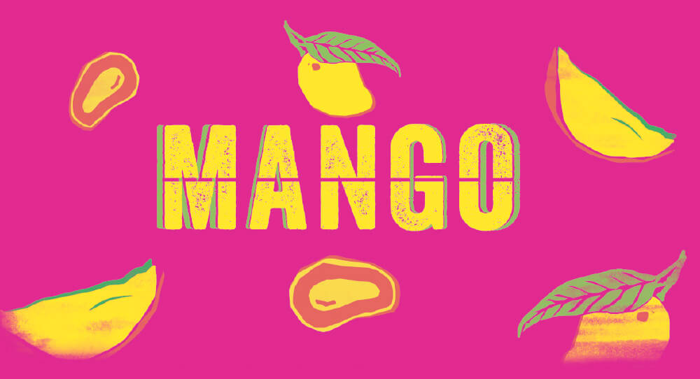 Signage with Mango Written on it.