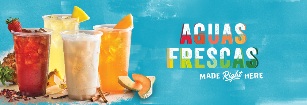 Aguas Frescas Drinks with Fruit