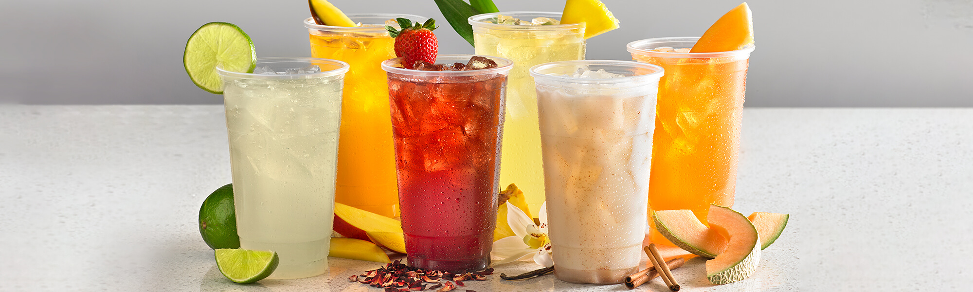 Various Aguas Frescas Drinks